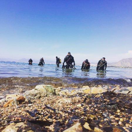 La Azohia, Spain: Entrenamiento y buceo 100%