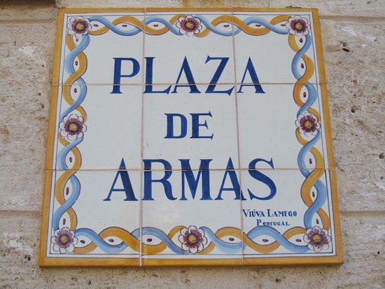 Piastrella di ceramica picture of plaza de armas havana
