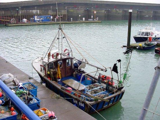 Upper Beeding, UK: fishing boats at Brighton Marina © Robert Bovington