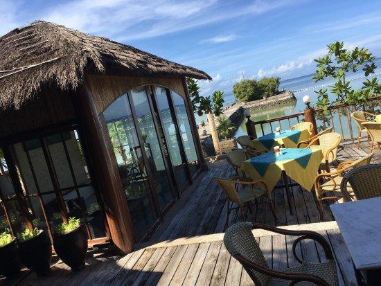 outside the resort picture of cebu marine beach resort lapu