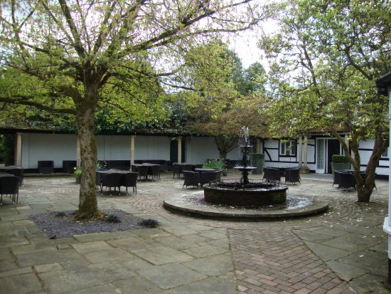 Courtyard next to the bar area