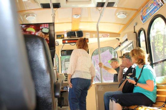 Gatlinburg Trolley: Interieur van de bus.