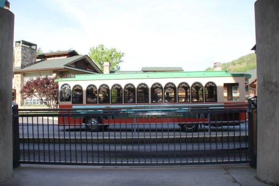 Gatlinburg Trolley: De bus.