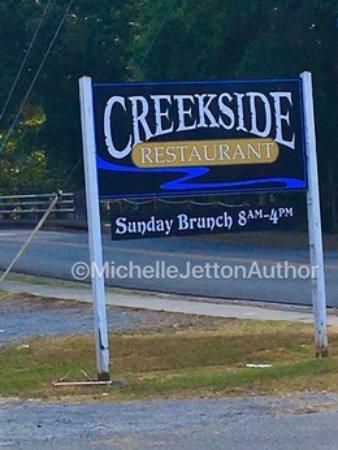 Cave Spring, GA: Creekside Restaurant Sign