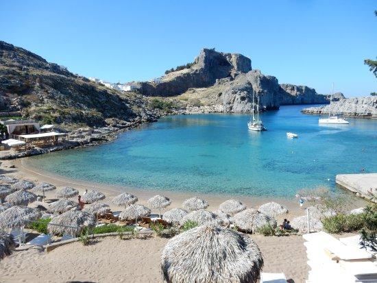 Baie St Paul Sud de Lindos - Picture of Agios Pavlos Beach ...