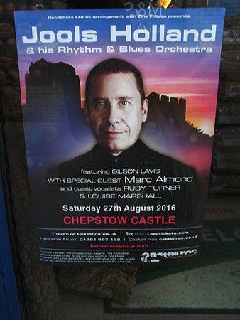 Chepstow, UK: お城でのコンサーのポスター
