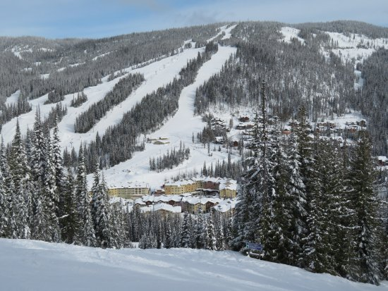 Sun Peaks Village view from Mt. Morresy, March 2017