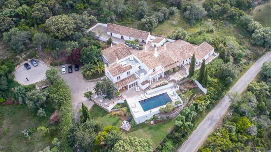 Aerial View Of Farmhouse Of The Palms Foto Van Farmhouse Of The