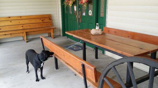 Porch is dog friendly!
