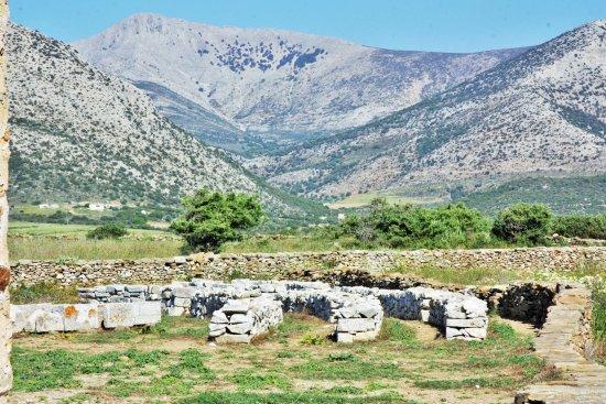 Temple of Demeter: les pierres tombées du temple sont alignées
