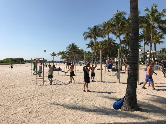 Lummus Park Beach: Palestra all' aperto