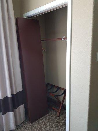 The broken wardrobe door picture of comfort suites for Door 55 reviews