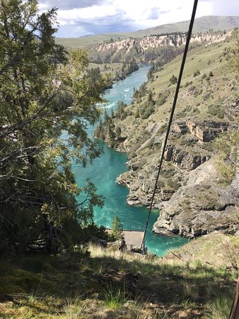 Kerr Dam outside of Polson, MT. I don't think I've ever seen river waters so clean and clear.