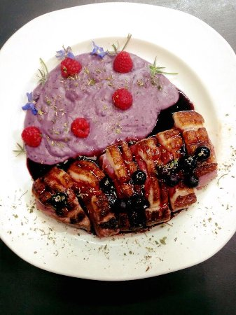 Organic Duck Breast with White Truffled Purple Puree