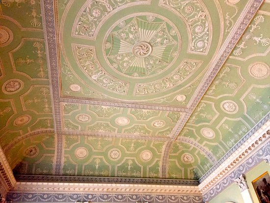 Harewood House - moulded ceiling 1