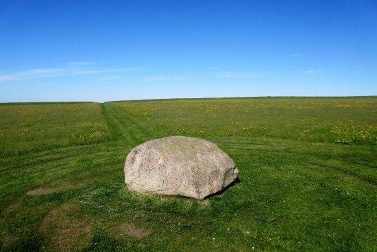 Loegstoer, Denmark: Udsigt fra centrum-stenen mod vest