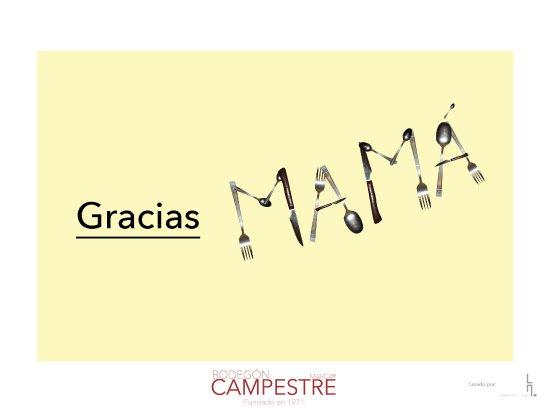 Bodegón Campestre: ¡Gracias mamá!