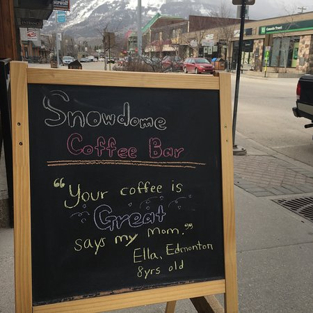 SnowDome Coffee Bar: Great coffee!