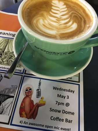 SnowDome Coffee Bar: Monthly Open Mic.