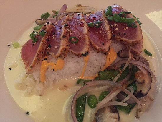 The Cheesecake Factory: tuna on rice