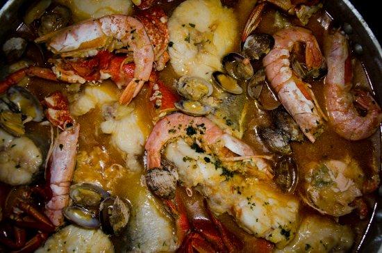 Vegadeo, España: Zarzuela de pescados y mariscos