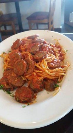 Harker Heights, TX: Spaghetti with italian sausage