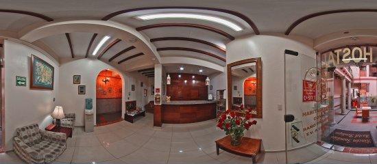 Rincon Familiar Hostel Boutique.: Recepción en Rincón Familiar Hostel Boutique. Vista 360 grados.