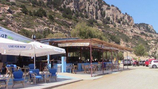 Archangelos, Griechenland: Taverna Tsampika sulla spiaggia omonima