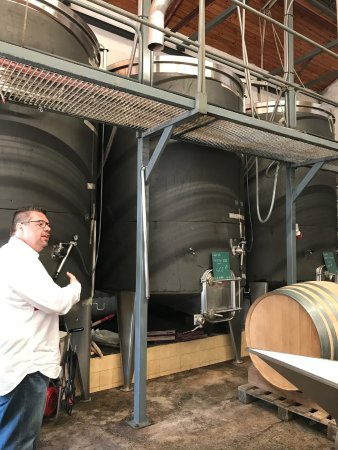 Le Gout des Autres - Wine Prestige Tour : Pierre telling us about the wine making process at one of the wineries.