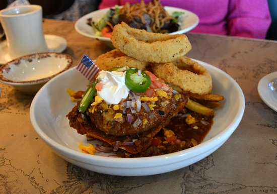 Knife And Fork Bison Chili Cheese Sandwich Picture Of Ted S Montana Grill Charlotte Tripadvisor