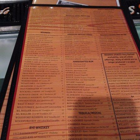 Eddie Papa's American Hangout: Whiskey List