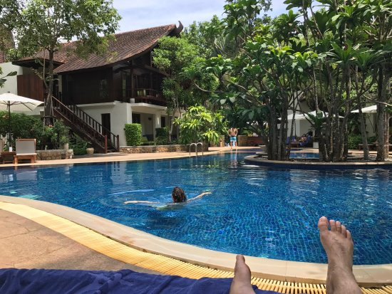 The Tubkaak Krabi Boutique Resort: View from the our patio and the pool