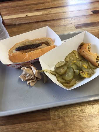 FLX Wienery: The pork Hots are awful, as is the brown mustard and not dill pickles you pay extra for. They al