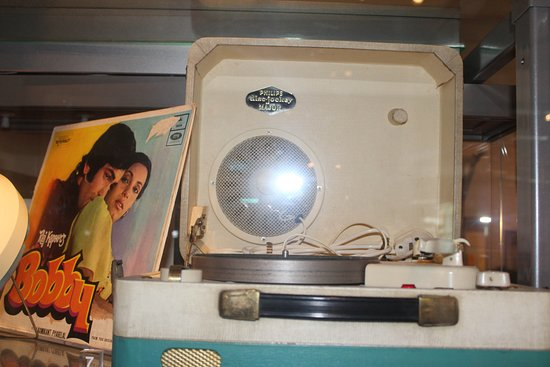 Coventry, UK: Portable grama phone with Indian record seleve