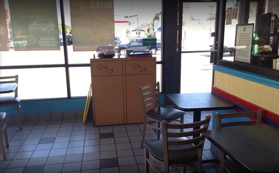 Maywood, IL: Dining area showing 2 chair tables near register