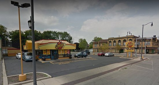 Maywood, IL: Restaurant on left coming up S 5th Street