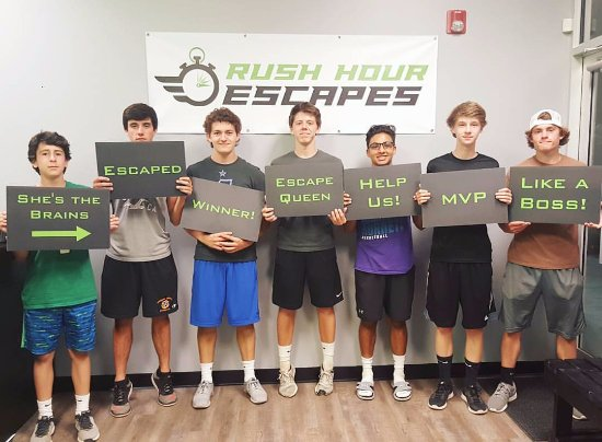 Fuquay-Varina, Carolina do Norte: These guys almost escaped with the Inheritance! Great teamwork!