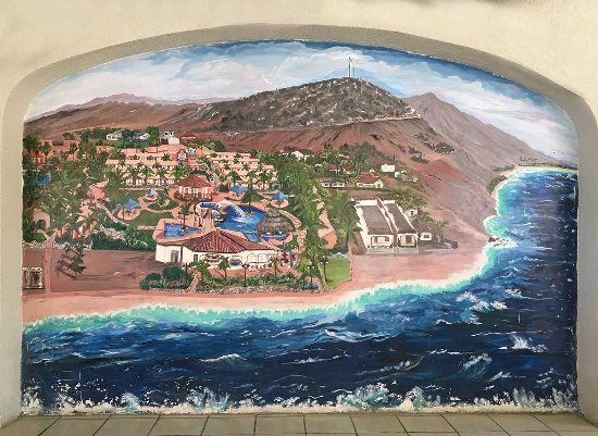 Buenavista, Mexico: Painted mural on the restaurant walls