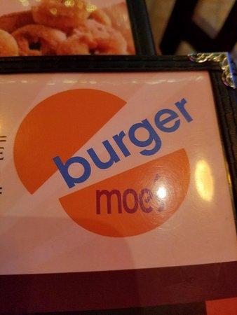 Burger Moe's: The menu