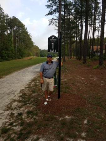 Wagram, NC: The guys made me pose for our last 36 hole round.