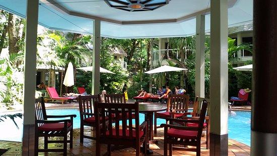 Green Island, Australia: Resort pool area