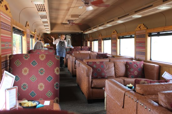 Clarkdale, AZ: Interior or train car