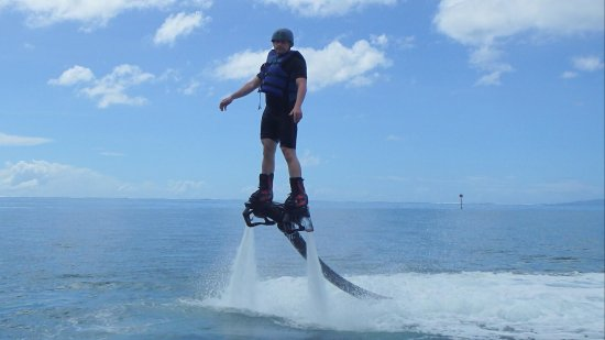 Vaiare, Fransk Polynesien: initiation flyboard
