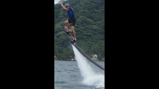 Vaiare, Fransk Polynesien: initiation hoverboard