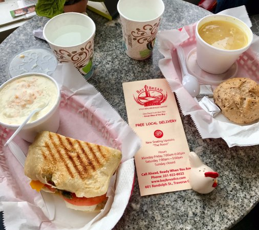 Bay Bread Co: Potato Soup/Sandwich and Chick Noodle w/roll