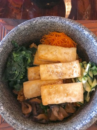 The Colony, TX: Veggie hot stone bowl with tofu