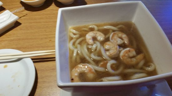 Florence, CO: Shrimp and udon (no veggies)
