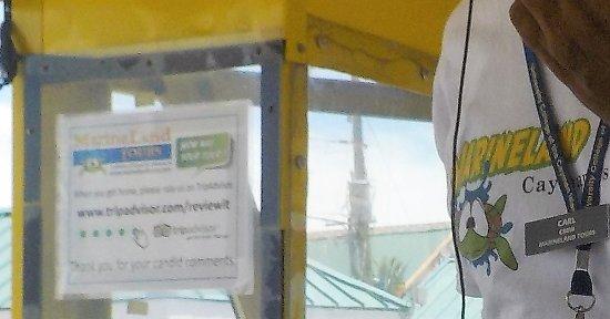 George Town, Wielki Kajman: Affichette de l'adhésion à TripAdvisor