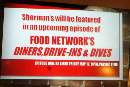 Sherman's on Food Network Diner's Dive-In and Dives, Sherman's Deli, Palm Desert, CA