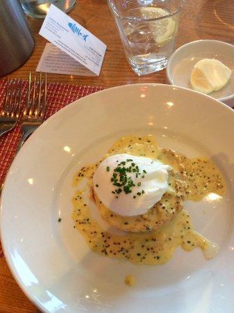 Blairgowrie, UK: Smoked Haddock tart with poached egg
